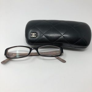 Chanel Classic Black & Soft Pink Glasses